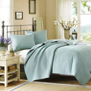 Hampton Hill Velvet Touch Coverlet Set in Sky by JLA Home