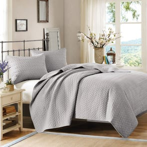 Hampton Hill Velvet Touch Coverlet Set in Steel by JLA Home