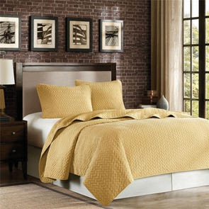 Hampton Hill Velvet Touch Queen Coverlet Set in Wheat by JLA Home