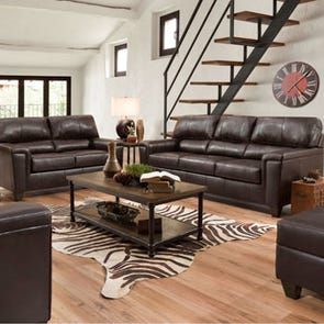 Lane Home Essentials Soft Touch Bark 3 Piece Living Room Set with Sleeper Sofa