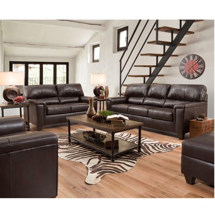 Lane Home Essentials Soft Touch Bark 3 Piece Living Room Set