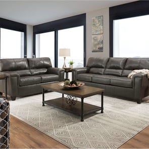 Lane Home Essentials Soft Touch Fog 3 Piece Living Room Set with Sleeper Sofa