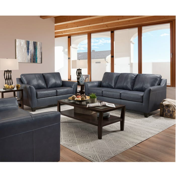Lane Home Essentials Soft Touch Shale 3 Piece Living Room Set with Sleeper  Sofa