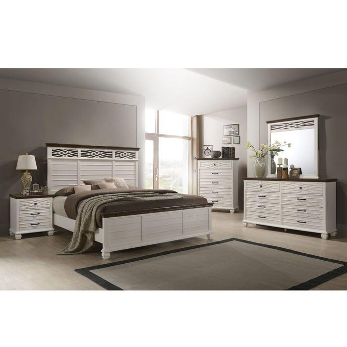 Lane Home Furnishings Bellebrooke 4 Piece Queen Bedroom Set in White