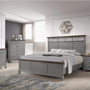 Lane Home Furnishings Bellebrooke 5 Piece Queen Bedroom Set in Grey