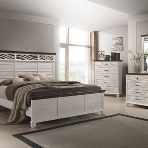 Lane Home Furnishings Bellebrooke 5 Piece King Bedroom Set in White