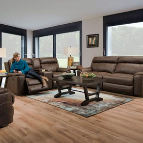 Lane Home Furnishings Koda Tobacco 3 Piece Power Living Room Set