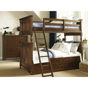 Legacy Classic Kids Big Sur by Wendy Bellissimo Bixby Twin Over Twin Bunk Bed with Underbed Storage Drawers