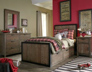Legacy Classic Kids Fulton County Twin Panel Bed with Underbed Storage Drawers