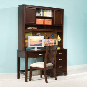 Legacy Classic Kids Park City Desk with Hutch in Merlot