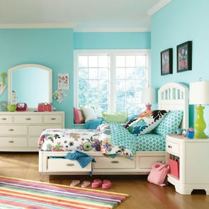 Legacy Classic Kids Park City Platform Storage Bed in White