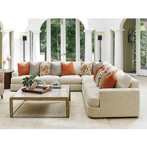 Lexington Laurel Canyon Halandale 3 Piece Sectional in Cream