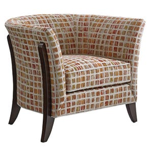 Lexington Laurel Canyon Westgate Tight Back Chair in Slate Geometric