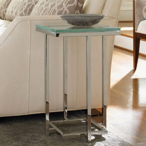 Lexington Mirage Stanwyck Glass Top Accent Table