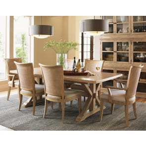 Lexington Monterey Sands 7 Piece Walnut Creek Dining Set With Los Altos Chairs