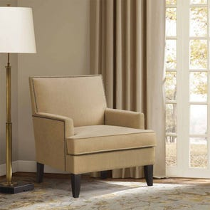 Madison Park Colton Accent Chair in Mr Sandman