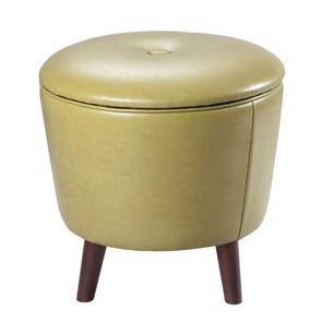 Madison Park Crosby Ottoman in Citron
