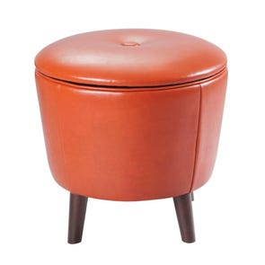 Madison Park Crosby Ottoman in Orange