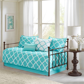 Madison Park Essentials Merritt 6 Piece Reversible Daybed Set in Aqua by JLA Home