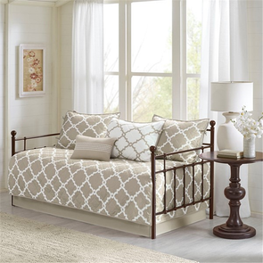 Madison Park Essentials Merritt 6 Piece Reversible Daybed Set in Taupe by JLA Home