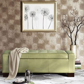Madison Park Mirage Bench in Citron