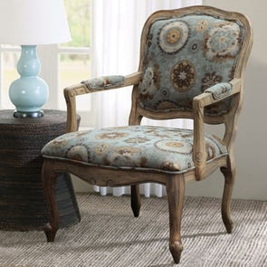 Madison Park Monroe Accent Chair in Turkish Delight