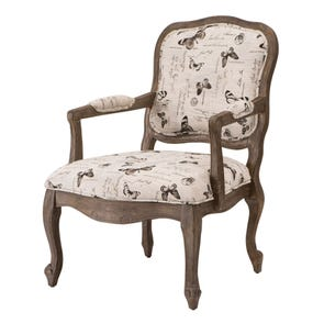 Madison Park Monroe Accent Chair in Mariposa Newsprint