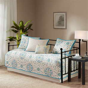 Madison Park Tissa 6 Piece Daybed Set in Teal by JLA Home