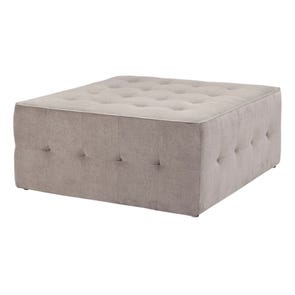 Madison Park Zeus Oversized Cocktail Ottoman in City Smoke