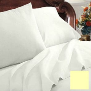 Clearance Mayfield Sheets 300 Thread Count Twin Sheet Set in Ecru OVLB0818066