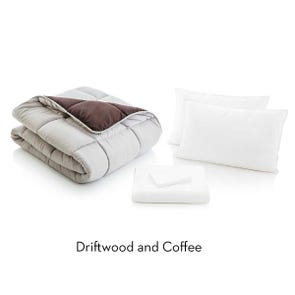 Malouf Woven California King Size Bed in a Bag in Driftwood Coffee