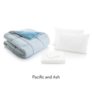 Malouf Woven California King Size Bed in a Bag in Pacific Ash