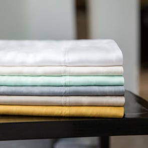 Malouf Woven 300TC Tencel Queen Size Sheet Set in Ecru