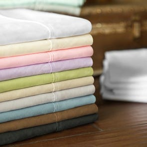 Malouf Woven Microfiber Twin Size Sheet Set in Ash