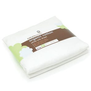 Naturepedic Organic Cotton Sateen Oval Bassinet Fitted Sheet fits Stokke Sleepi in White