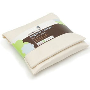 Naturepedic Organic Cotton Sateen Portacrib Fitted Sheet in Ivory