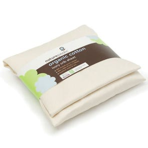 Naturepedic Organic Cotton Sateen Rectangle Bassinet Fitted Sheet in Ivory