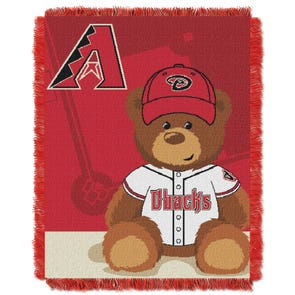 Arizona Diamondbacks MLB Field Bear Woven Jacquard Baby Throw by Northwest Company