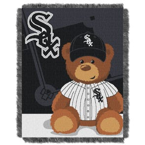 Chicago White Sox MLB Field Bear Woven Jacquard Baby Throw by Northwest Company
