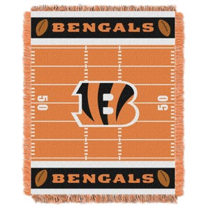 Cincinnati Bengals NFL Field Woven Jacquard Baby Throw by Northwest Company