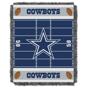 Dallas Cowboys NFL Field Woven Jacquard Baby Throw by Northwest Company