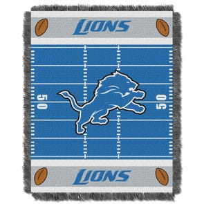 Detroit Lions NFL Field Woven Jacquard Baby Throw by Northwest Company