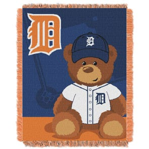 Detroit Tigers MLB Field Bear Woven Jacquard Baby Throw by Northwest Company
