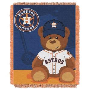 Houston Astros MLB Field Bear Woven Jacquard Baby Throw by Northwest Company