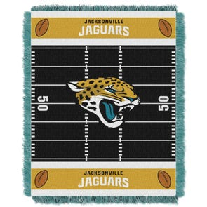 Jacksonville Jaguars NFL Field Woven Jacquard Baby Throw by Northwest Company