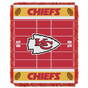 Kansas City Chiefs NFL Field Woven Jacquard Baby Throw by Northwest Company