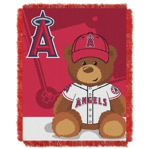 Los Angeles MLB Field Bear Woven Jacquard Baby Throw by Northwest Company