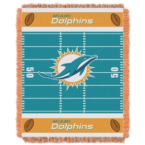 Miami Dolphins NFL Field Woven Jacquard Baby Throw by Northwest Company