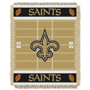 New Orleans Saints NFL Field Woven Jacquard Baby Throw by Northwest Company