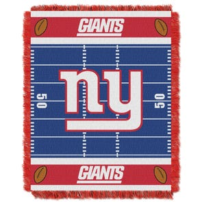 New York Giants NFL Field Woven Jacquard Baby Throw by Northwest Company